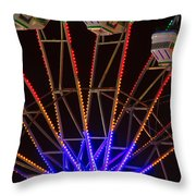 Farris Wheel Close-up Throw Pillow