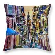 Fascinating Palermo Sicily Italy Street Scene Throw Pillow