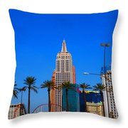 Fascination Las Vegas Throw Pillow