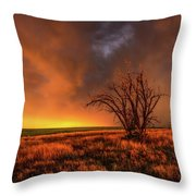 Fascinations - Warm Light And Rumbles Of Thunder In The Oklahoma Panhandle Throw Pillow