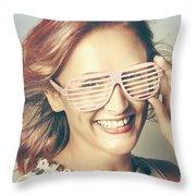 Fashion Eyewear Pin-up Throw Pillow
