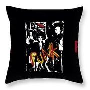 Punk Rock Alternative Style Design Throw Pillow