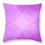 Fashion Semi Circle Background Horizontal Throw Pillow