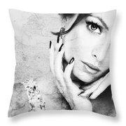 Fashion Woman Throw Pillow