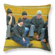 Fashionable Caps Throw Pillow