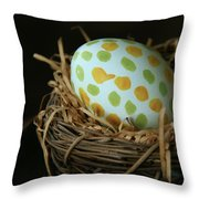 Fashionable Egg  Throw Pillow