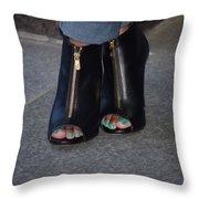 Fashionable Feet Throw Pillow