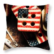 Fashioning A Usa Design Throw Pillow