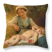 Fast Asleep Throw Pillow