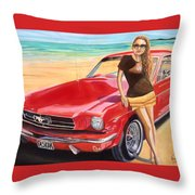 Fast Back And I  Throw Pillow