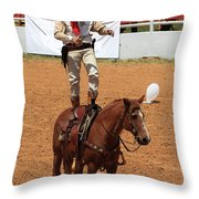 Fast Draw Cowboy Throw Pillow