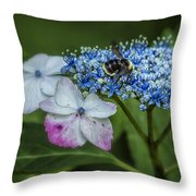 Fast Food For Bumblebees Throw Pillow