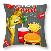 Fast Food Of The Day Throw Pillow