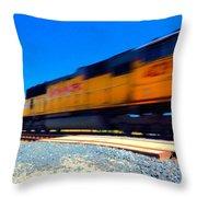 Fast Freight Throw Pillow
