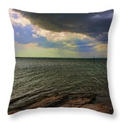 Fast Moving Storm Throw Pillow