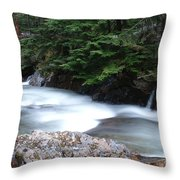 Fast Water Tumbling Fast  Throw Pillow