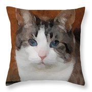 Fat Cats Of Ballard 3 Throw Pillow