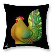 Fat Chicken By Rafi Talby  Throw Pillow