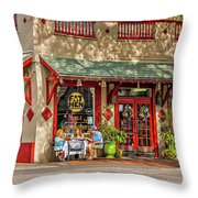 Fat Hen Grocery - New Orleans Throw Pillow