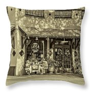 Fat Hen Grocery Sepia Throw Pillow