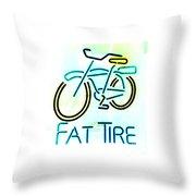 Fat Tire Throw Pillow