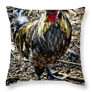 Fat Tuesday - Mardi Gras Chicken Throw Pillow