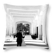 Father And Bride Throw Pillow