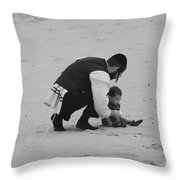Father And Daughter Throw Pillow