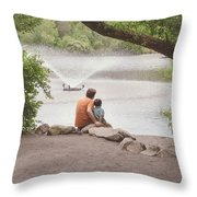 Father And Son 2 Throw Pillow