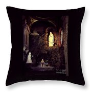 Father Bakers Refuge Throw Pillow
