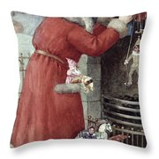 Father Christmas Throw Pillow by Karl Roger