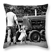 Father/daughter Day Throw Pillow by Rick Morgan