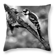 Father Feeding Son Throw Pillow