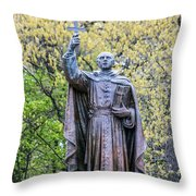 Father Marquette Throw Pillow