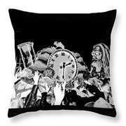 Father Time In Black And White Throw Pillow
