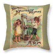 Father Tucks Nursery Rhymes Throw Pillow