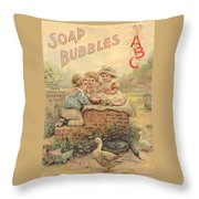 Father Tucks Soap Bubble Throw Pillow