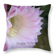 Fathers Day Cactus Throw Pillow