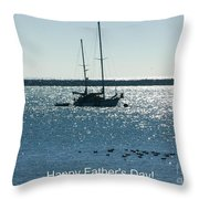 Father's Day Card - Peaceful Bay Throw Pillow