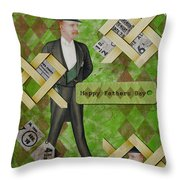 Fathers Day Throw Pillow