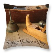 Fathers Day Tools Throw Pillow