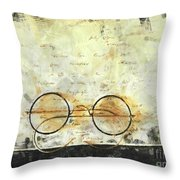 Father's Glasses Throw Pillow