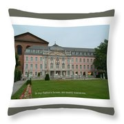 Fathers House Many Mansions Throw Pillow