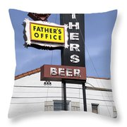 Father's Office Throw Pillow
