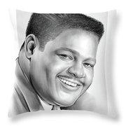 Fats Domino Throw Pillow