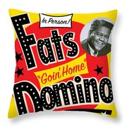 Fats Domino Throw Pillow