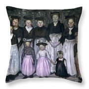 Fautrier: Sunday Stroll Throw Pillow