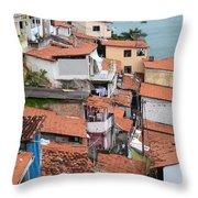 Favela In Salvador Da Bahia Brazil Throw Pillow