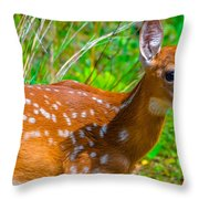 Fawn 4 Throw Pillow