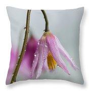 Fawn Lilies In The Rain Throw Pillow